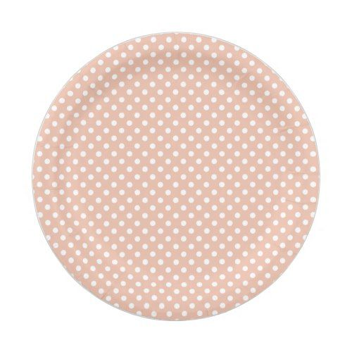 Rose gold/blush and white polka dots paper plate  sc 1 st  Pinterest & Rose gold/blush and white polka dots paper plate | Polka dot paper ...