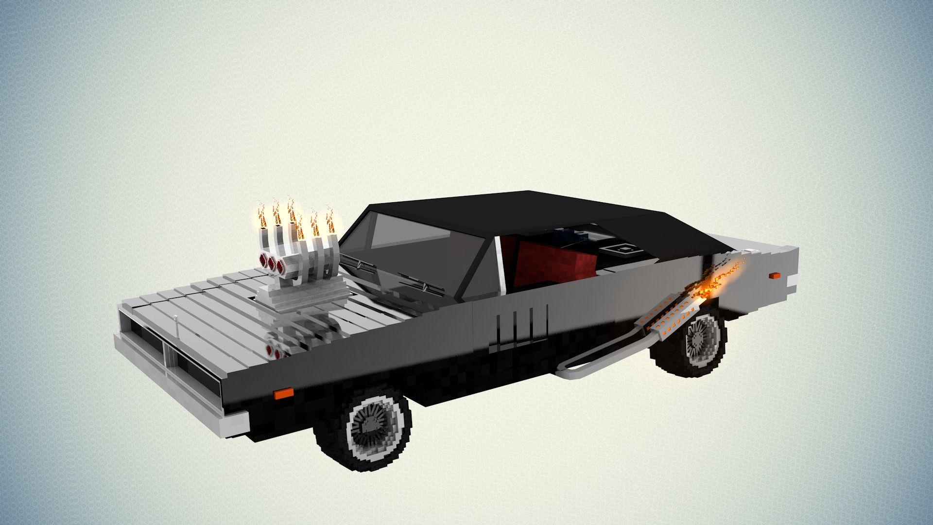 3D Model Minecraft Dodge Charger - 3D Model