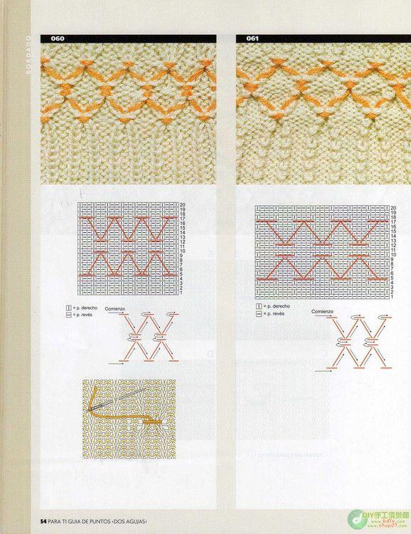 Guia de Puntos Bordados en Tejido Crochet   bordado   Pinterest ...