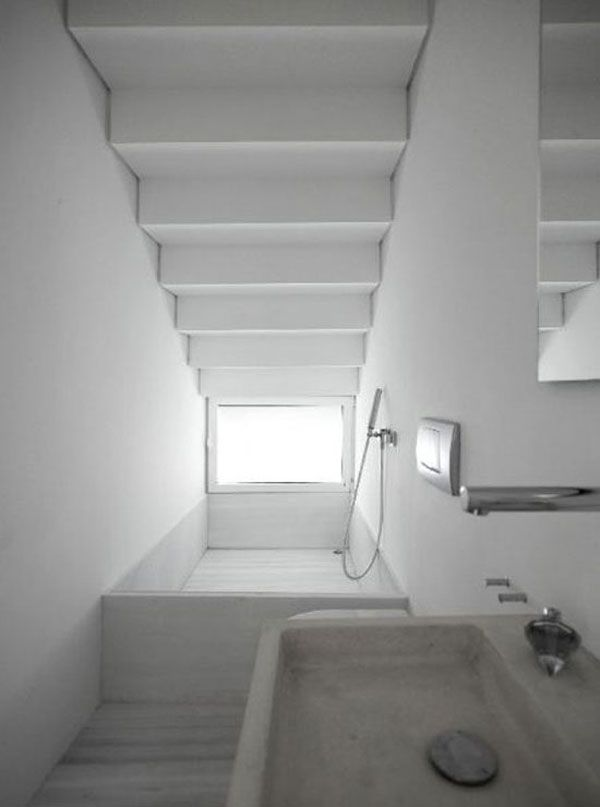 bathroom under the stairssuper smart because that small space is perfect