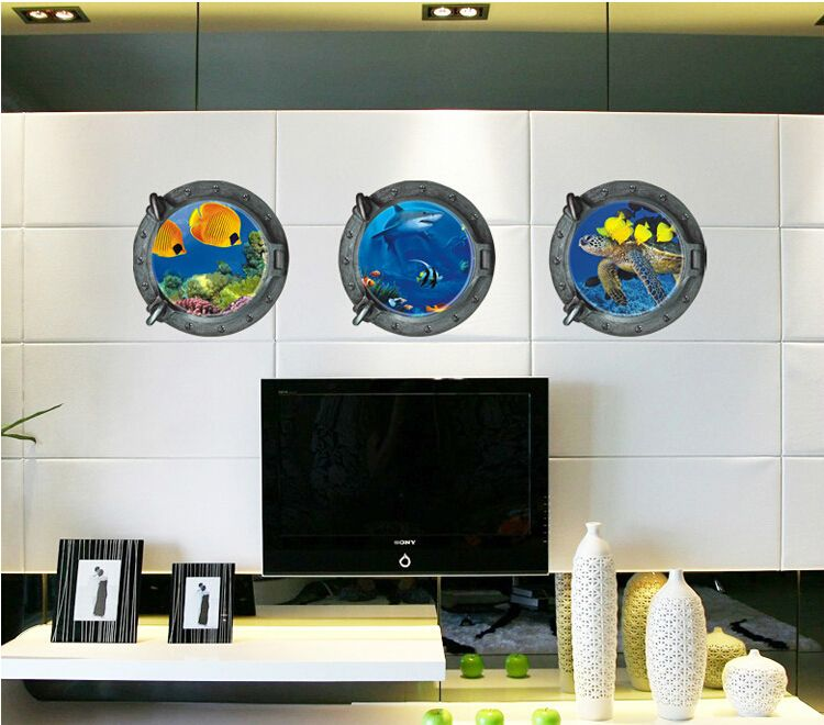 removable three pieces round animal wall stickers kids living bedroom bedroom wall decor - http://www.aliexpress.com/item/removable-three-pieces-round-animal-wall-stickers-kids-living-bedroom-bedroom-wall-decor/32388573305.html