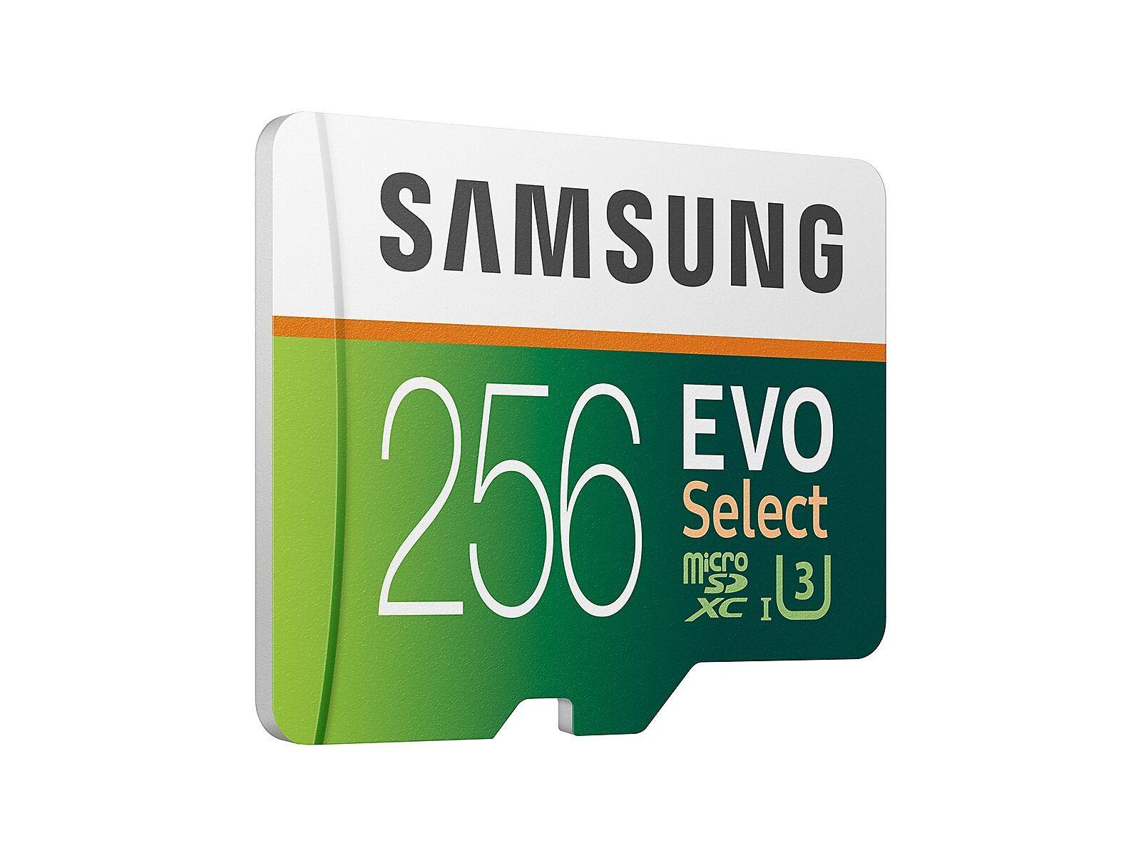 Evo Select Microsdxc Memory Card 256gb Memory Storage Mb Me256ha Am Samsung Us In 2021 Memory Cards Memory Storage Samsung
