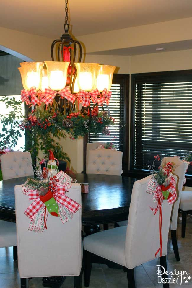 Christmas Dining Room Decor (& How to Tie a Simple Bow
