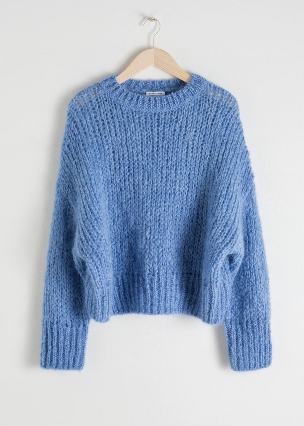 5a1fc9d003c8 Colour Block Mock Neck Sweater - Multicoloured - Patterned sweaters -  amp   Other Stories Blue