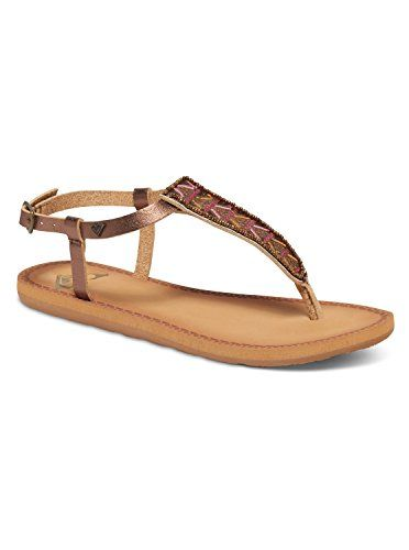 335383b56d13c Roxy Womens Mita Strappy Flat Sandal Gold 8 M US     Don t get left behind