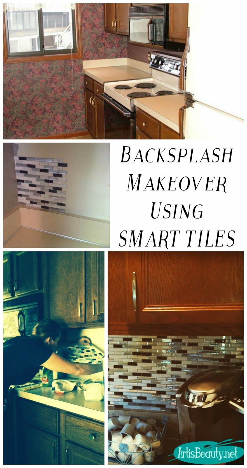Quick kitchen backsplash makeover using smart tiles smart tiles art is beauty quick kitchen backsplash makeover using smart tiles dailygadgetfo Gallery