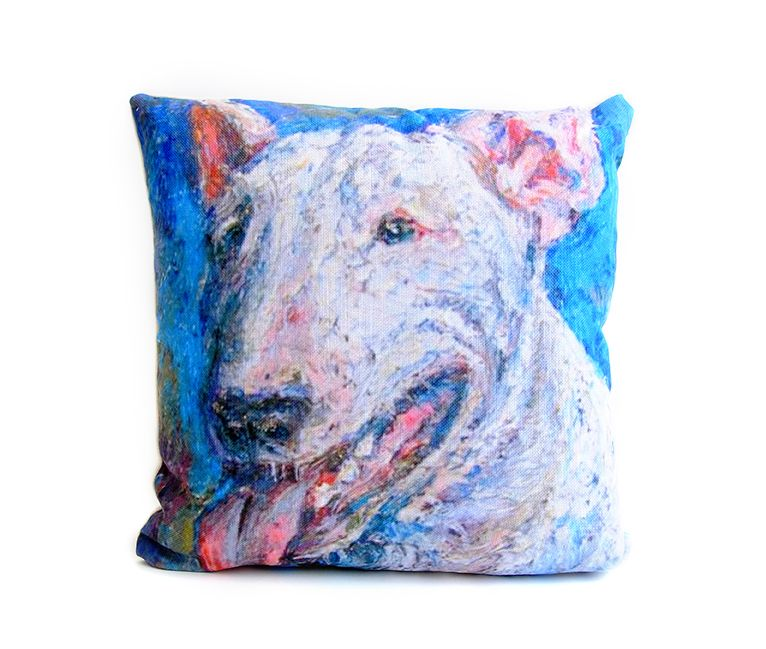 ObjectsReartiste Pillow, $45.00 -  This pillow design was inspired by Irina Kasperskaya's unforgettable oil-on-canvas paintings in her signature impasto technique. Those thick strokes of oil are touch-proof on your pillows!