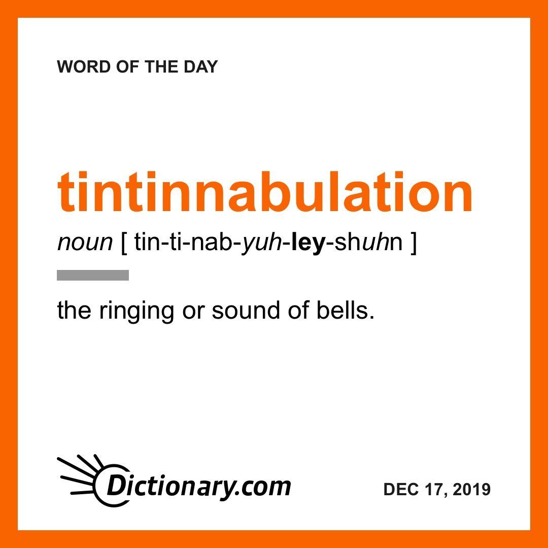 Tintinnabulation Uncommon Words Dictionary Words Cool Words