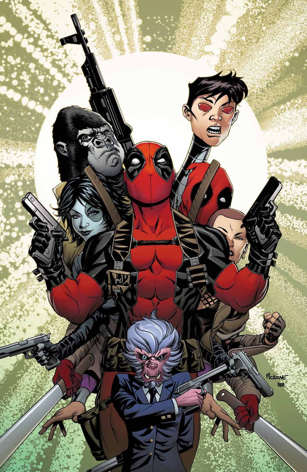 Deadpool fan art deadpool u the mercs for money variant cover