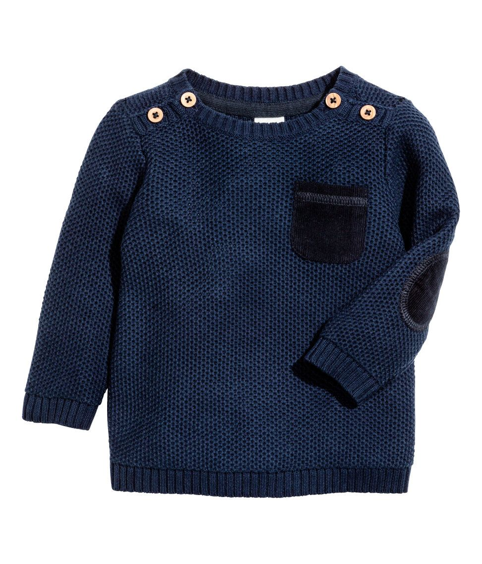 Check this out! Textured-knit sweater in soft cotton fabric with ...