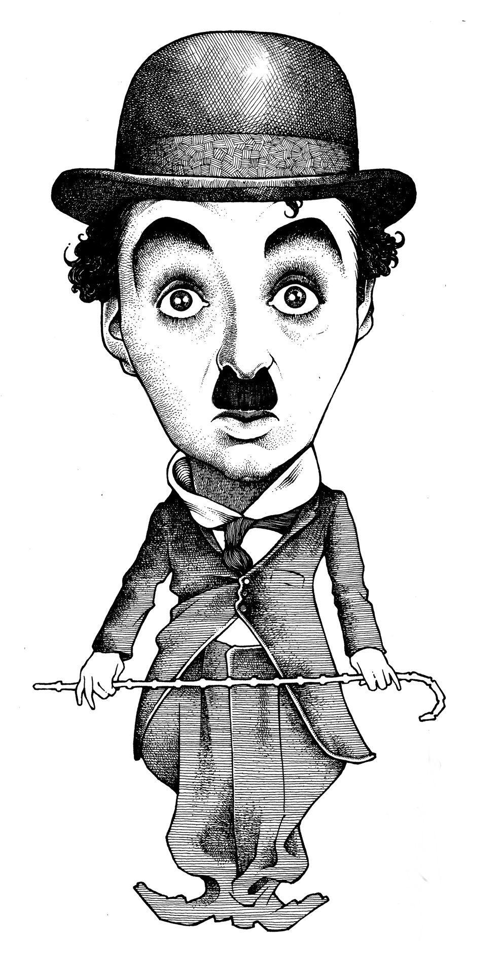 Image result for Charlie Chaplin karikator