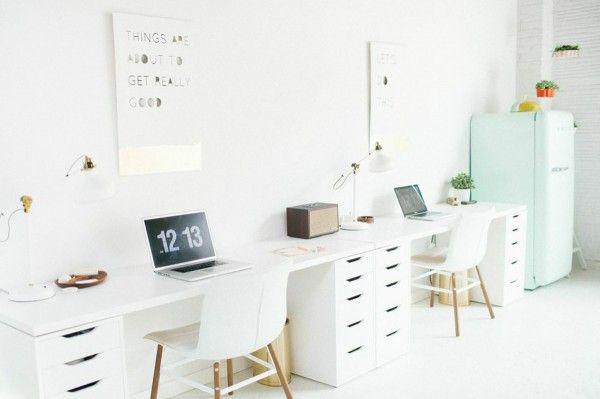 Un bureau pour deux plus maison à venir bureau