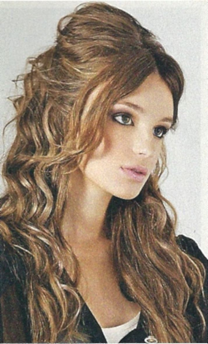 Long Curly Layered Hairstyles Long trend hairstyle now