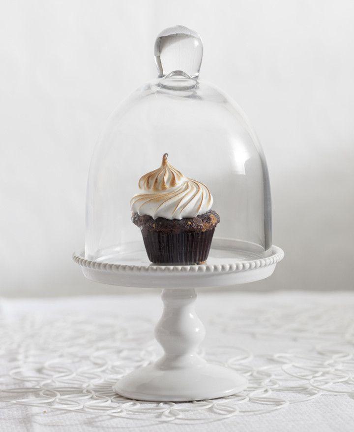 Decor bon bon glass dome cake stand with dome mini cake