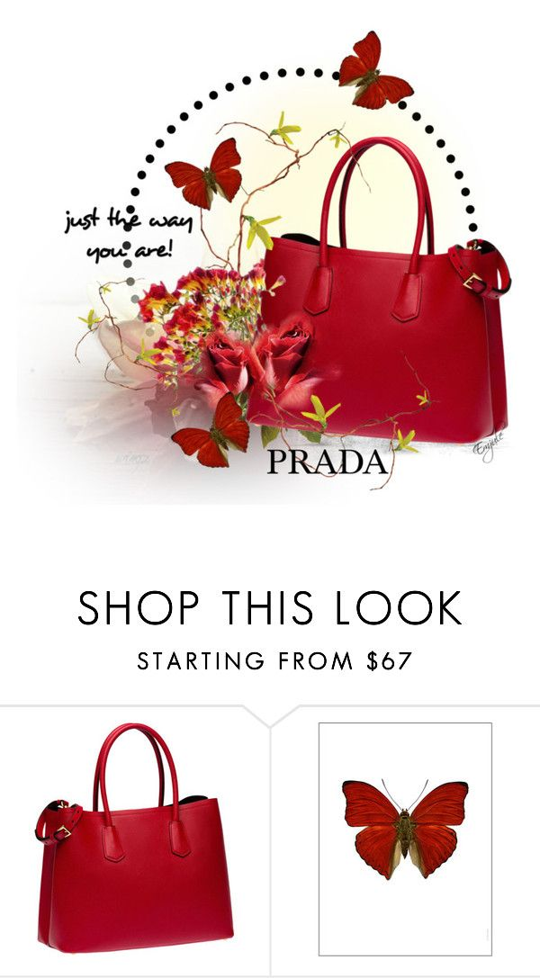 """Red Bag"" by emjule ❤ liked on Polyvore featuring Rojas, Prada and Amara"