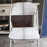 This Folding Chair Makeover Will Blow You Away -   When you're cramming company into your home, you find seating anywhere you can – and for Bless'er House blogger Lauren Shaver, that meant pulling her stack of rusty folding chairs out of the garage. Tired of having the dated, orange and brown chairs clash with her thoughtful...   http://wp.me/p5qhzU-cZX   #DIY #DoItYourself
