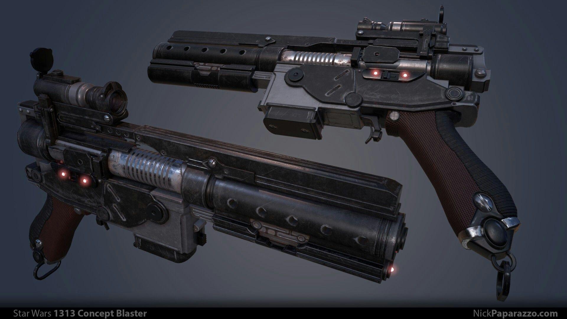 star wars 1313 blaster pistol concept cool stuff. Black Bedroom Furniture Sets. Home Design Ideas