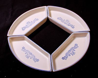 Pfaltzgraff Yorktowne Relish Platter Section Blue Serving Tray ...