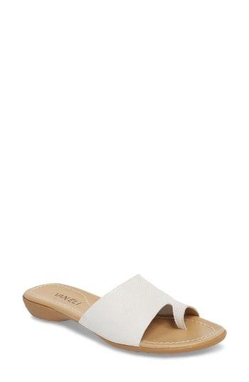 adaa70459f8 VANELi  Tallis  Snake Embossed Leather Slide Sandal
