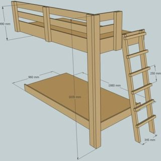 One Legged Bunk Bed Building Plan Pinterest Bunk Beds Bed And