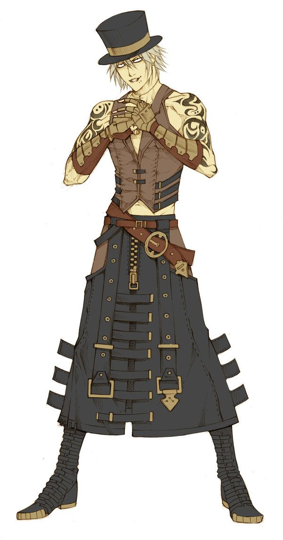 Oc Langan By Mizaeltengu On Deviantart Steampunk Characters