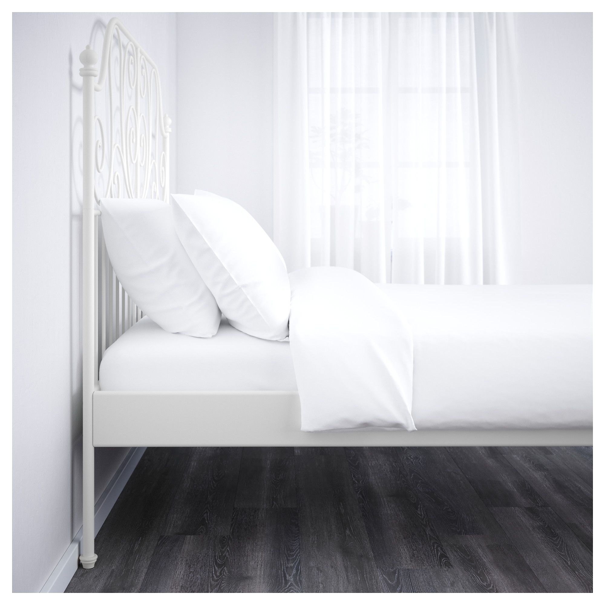IKEA - LEIRVIK Bed frame white, Luröy | Products | Pinterest