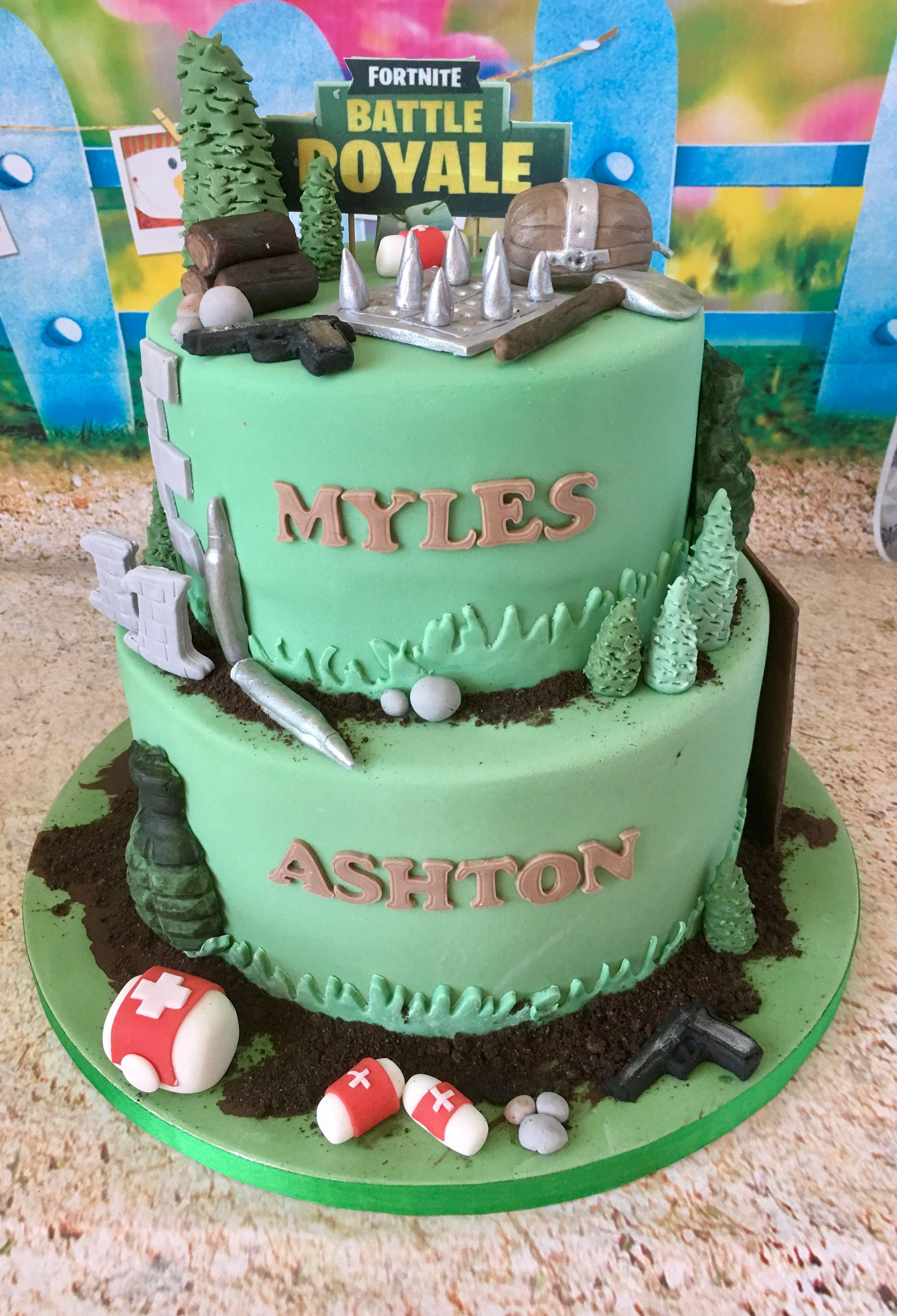 Fortnight Themed Birthday Cake