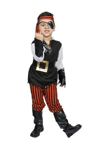 nice Kids Child Boys Pirate Halloween Costume, Size M 5,6,7,8 ...