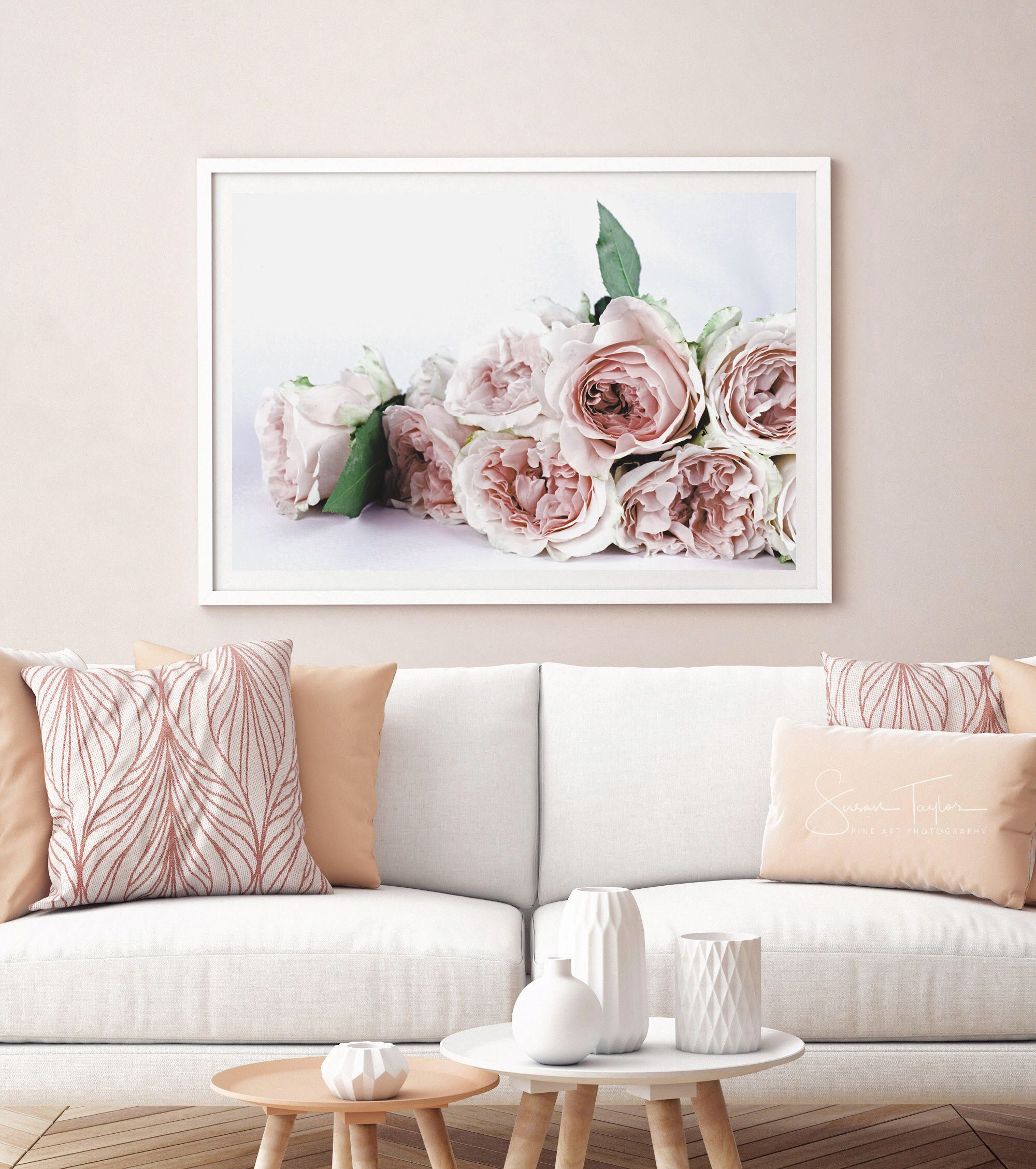 Peony print flower wall art nature prints nursery prints floral