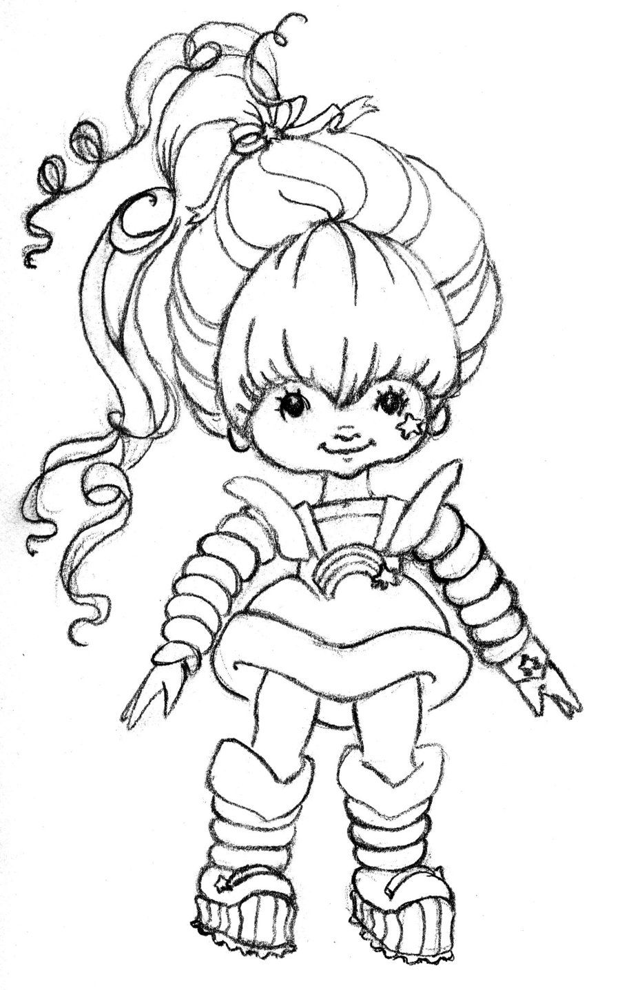 Rainbow colouring in pages - Images Of Rainbow Bright Coloring Pages Rainbow Brite Coloring Pages Coloring Pages Pictures