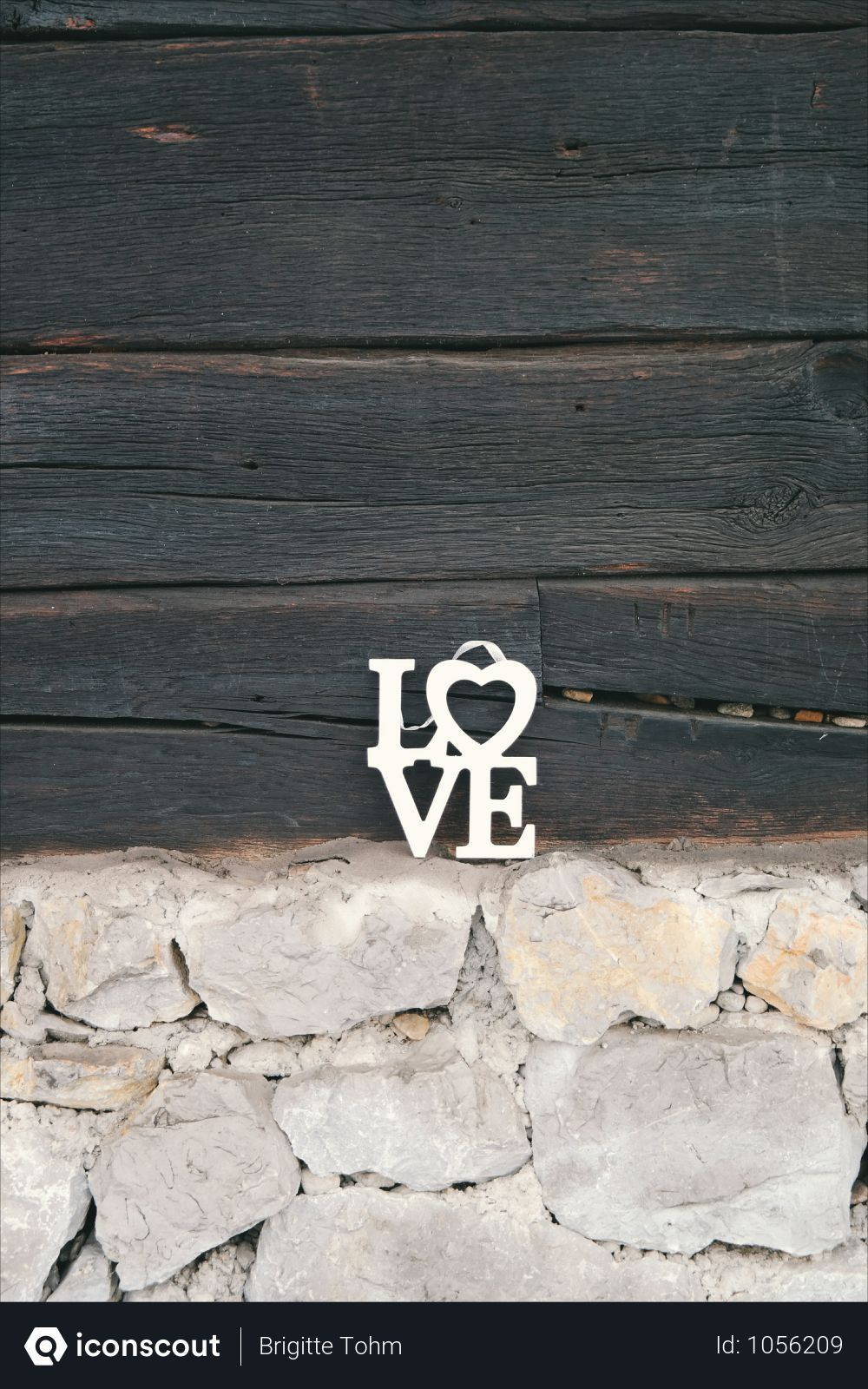 Free Love Lettering Frame Near Wooden Plank Photo