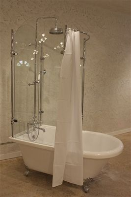 Superieur Oasis Vintage Antique Clawfoot Tub With Glass Shower Surround