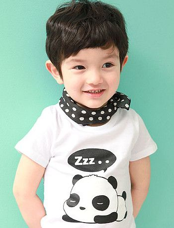 894de9ea5cd0 Panda Do-rag Tee - KidsNara Korean Kids Wear