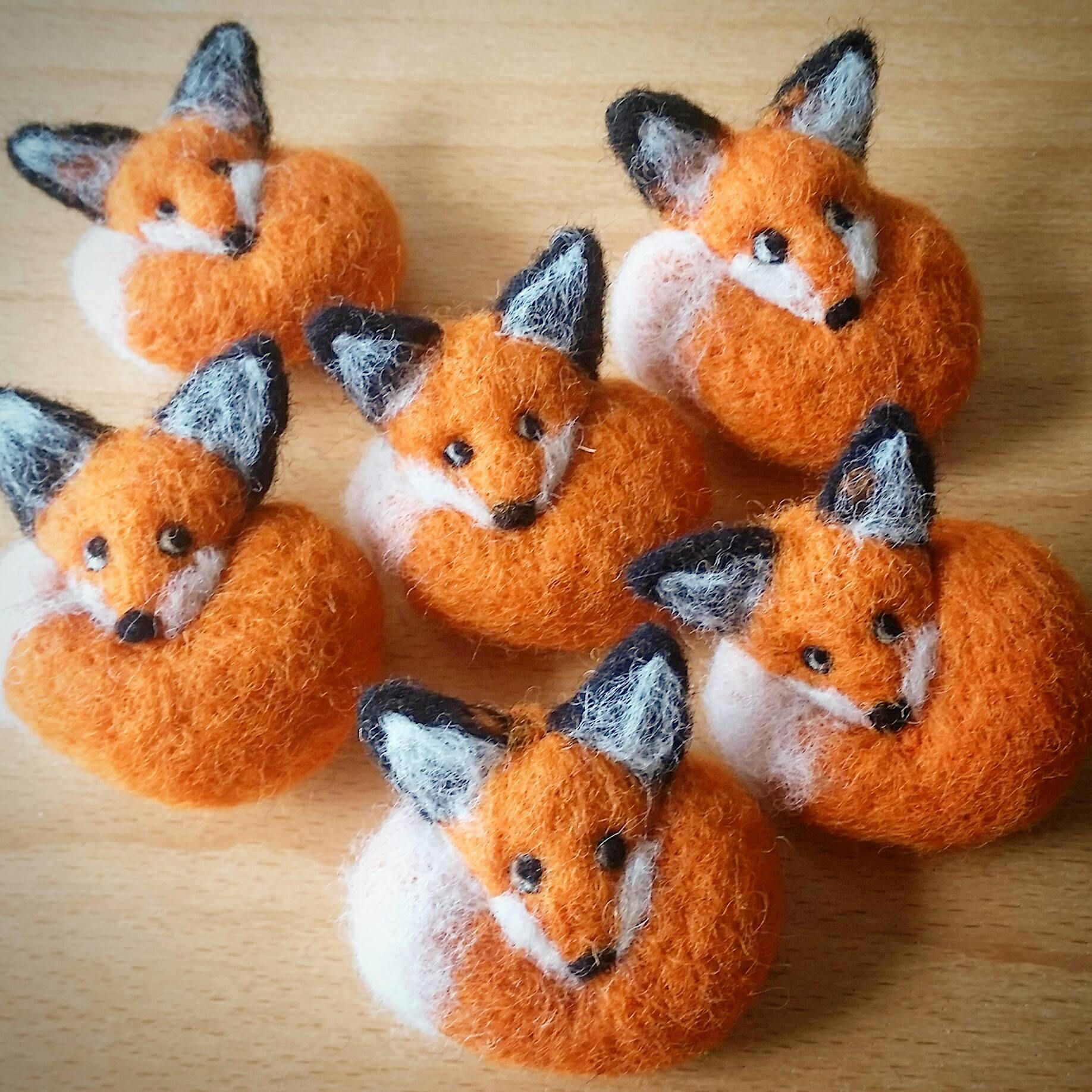 A Beautiful Needle Felted Fox Brooch Hand Crafted From Pure Wool