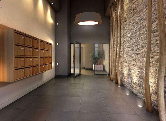 Vue sur hall (promoteur Bouygues Immobilier) 公共 Pinterest
