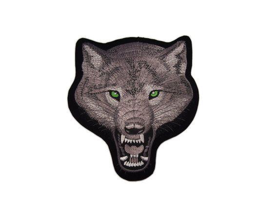Vest Fox Wolf Motorcycle Harley Davidson Hog Club Embroidered