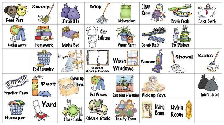 Kids+Chore+Chart+Graphics   Brayden   Chore chart kids ...