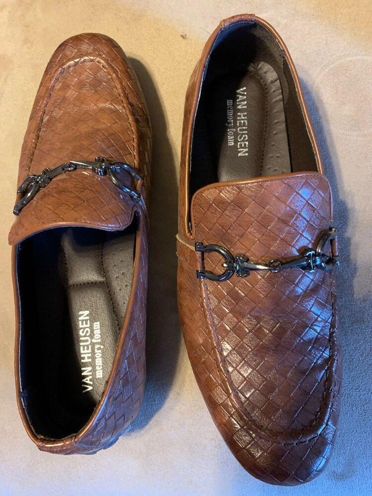 VAN HEUSEN Memory Foam brown leather