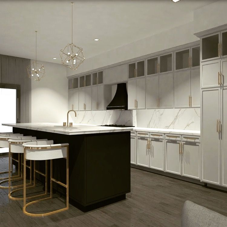 Kitchen Design Rendering: Kitchen Design Rendering For One Of Our Long Island
