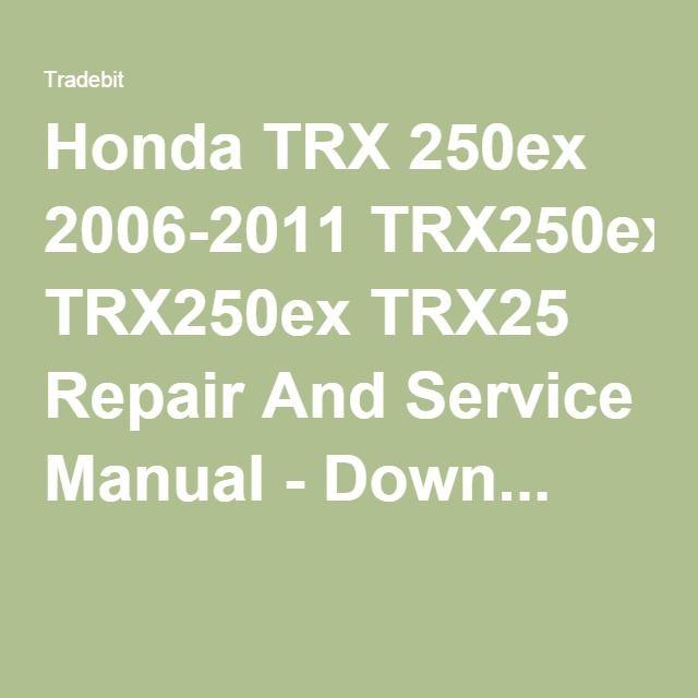 Trx 250ex 2006