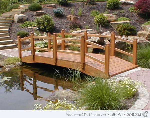 15 Whimsical Wooden Garden Bridges Home Design Lover Backyard