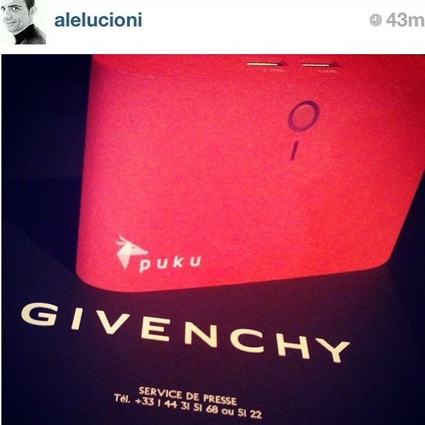 #regram from @Alessandro Lucioni #pukus8charger at #Givenchy #ss2014 #paris #parisfashionweek #teampuku