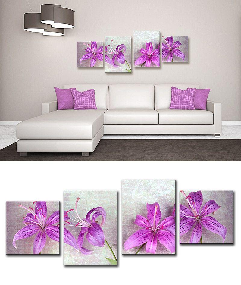 Cuadro flores fucsia sala de estar pinterest cuadros for Donde venden cuadros baratos
