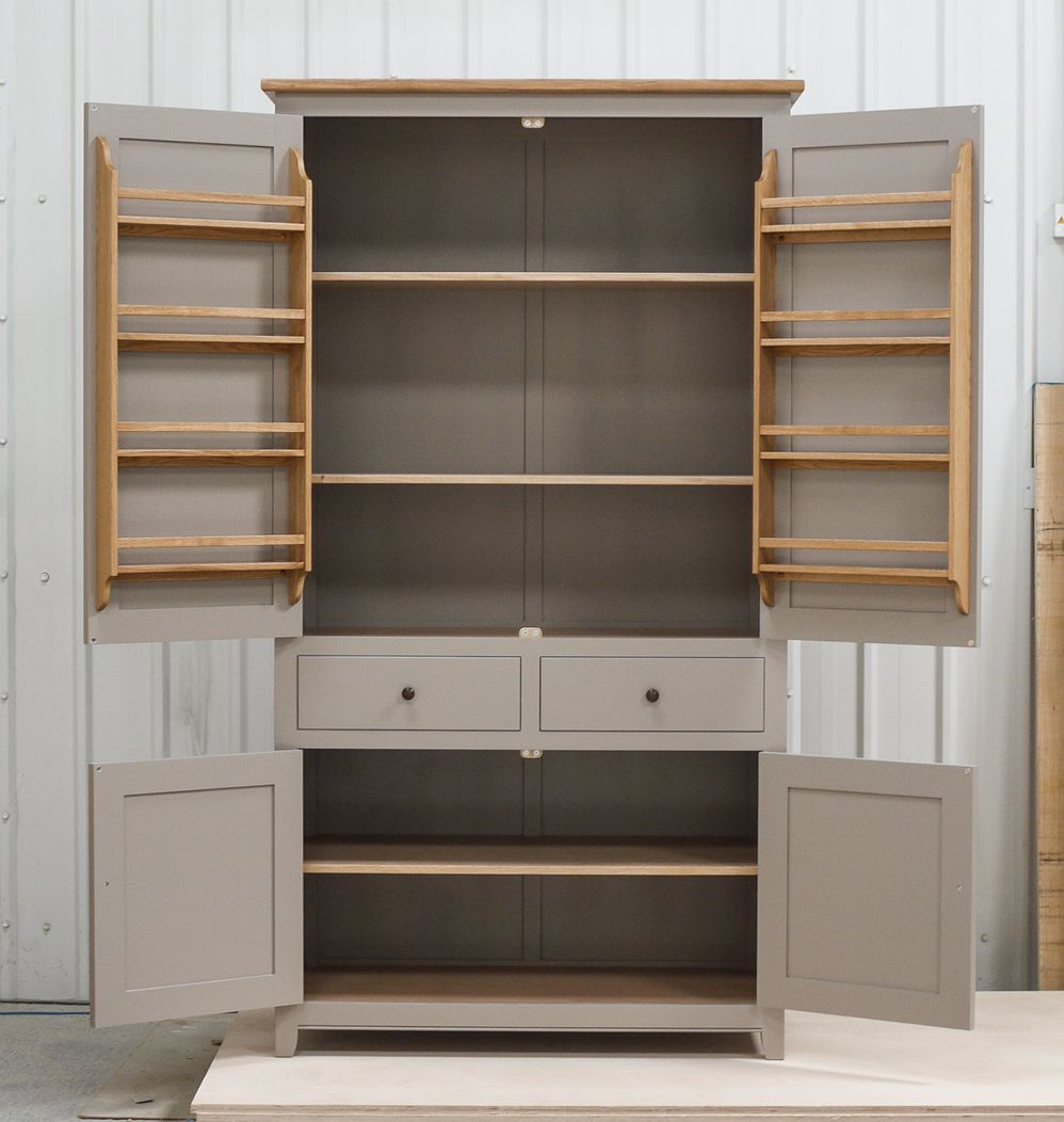 Freestanding Larder Cupboard Handpainted In Farrow Ball Estate Egshell 39 Charleston Gray