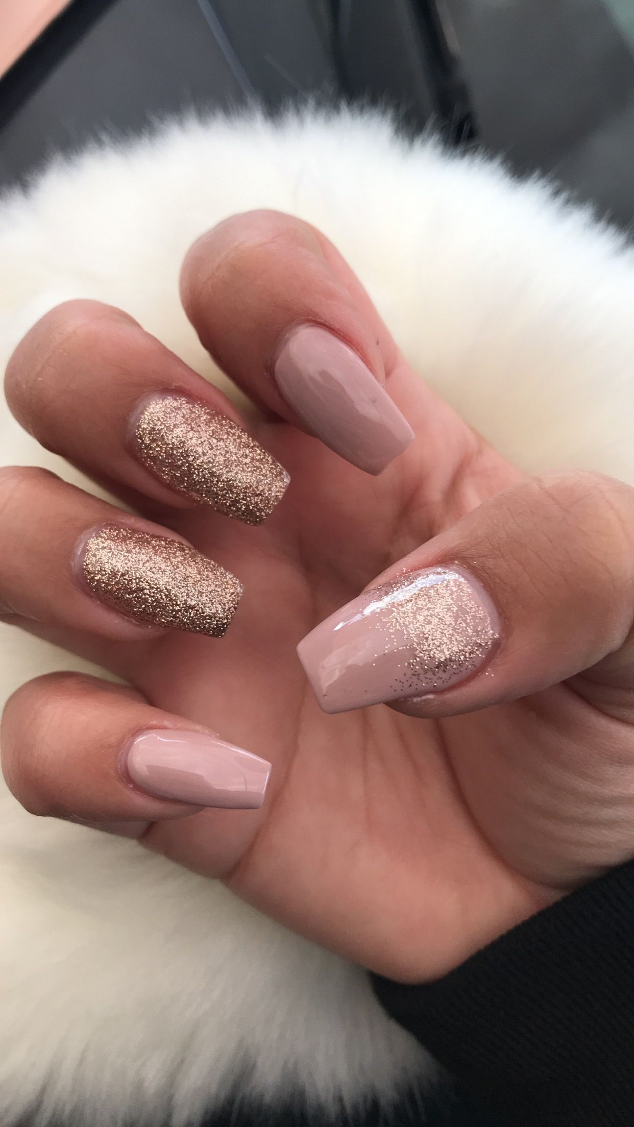 Rose gold nails ✨ Rosegoldnails in 2019