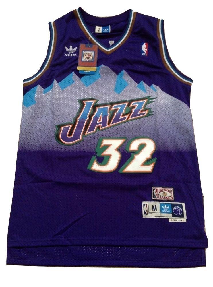 18e052f6 NBA Utah Jazz Champion Karl Malone Hardwood Vintage Throwback Swingman Jersey  32 #adidas #UtahJazz