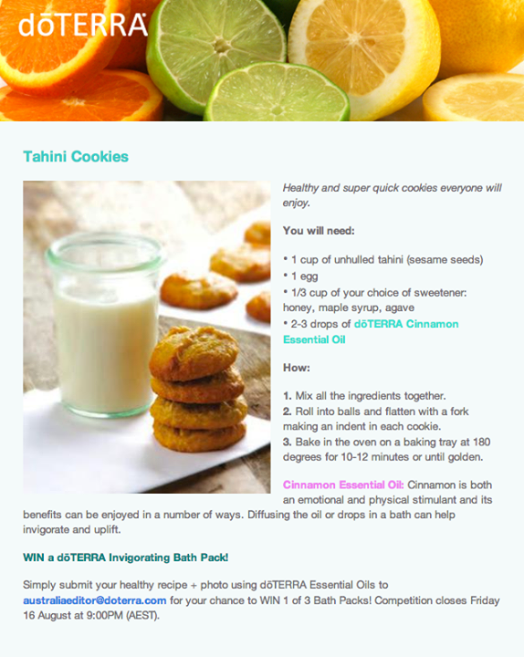 Healthy tahini cookies with doterra cinnamon essential oil healthy tahini cookies with doterra cinnamon essential oil forumfinder Images