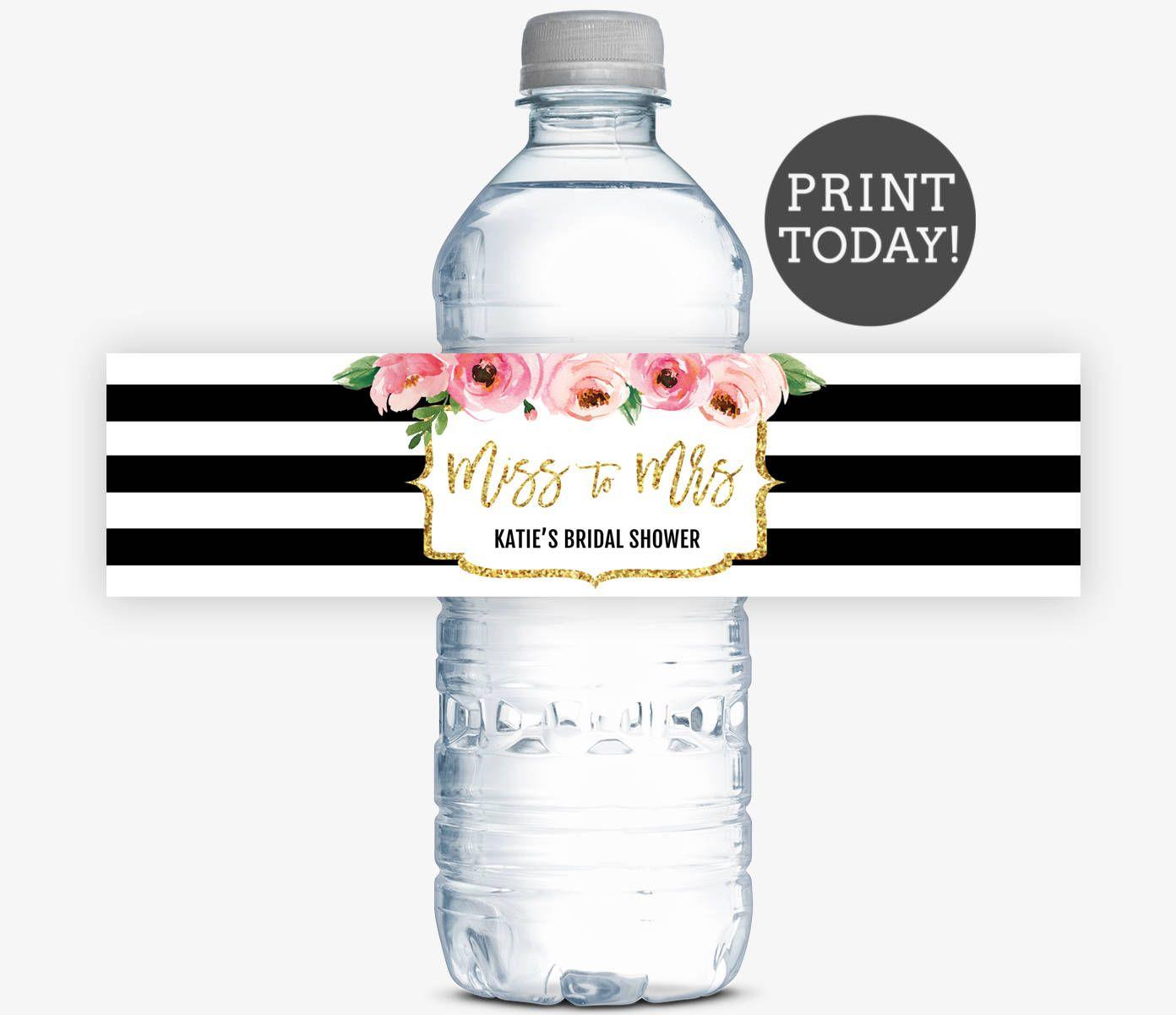dbd6bc706d2d Kate Bridal Shower Water Bottle Labels, Spade Inspired Bridal Shower ...