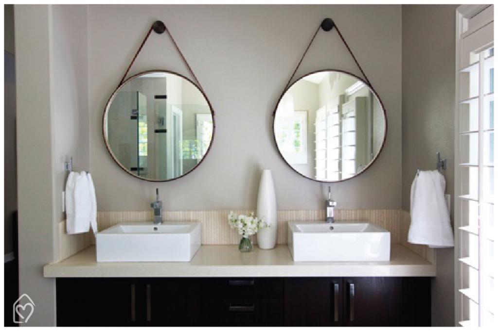 Ronde Spiegel Badkamer : Espelho adnet badkamer