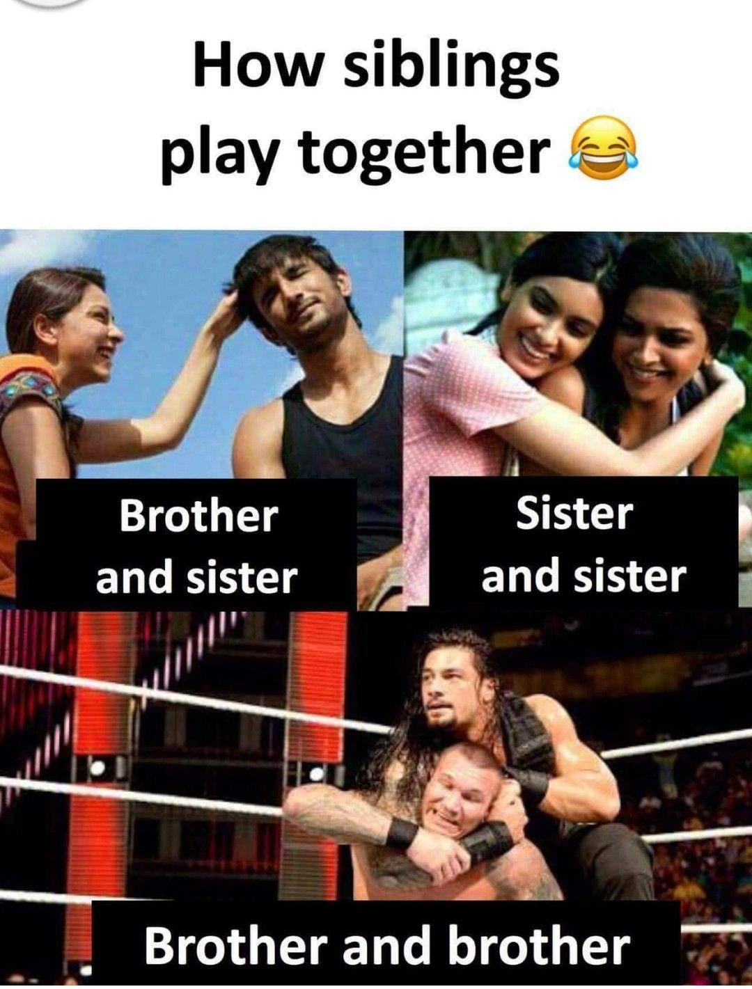 Haha #siblings #brother #sister #fight #meme #haha #play